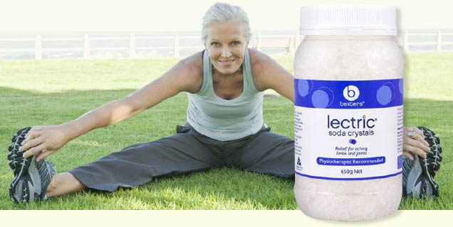 Applying Bexters Lectric Soda Crystals for injuries and swelling, Mooloolaba and Caloundra, Sunshine Coast Qld