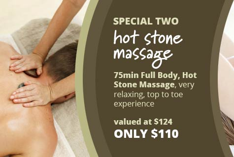Special 2 - Hot Stone Massage Deal, 75 minute Full Body, Hot Stone Massage - very relaxing, top to toe experience - only $110, valued at $124 (save $14)