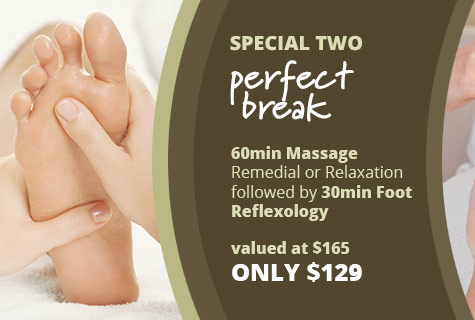 The Perfect Break Massage deal and Foot Reflexology offer