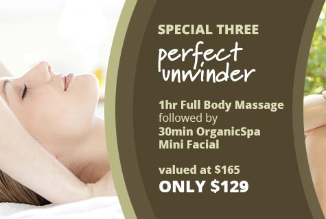 Perfect Unwinder Massage and Facial Special Offer