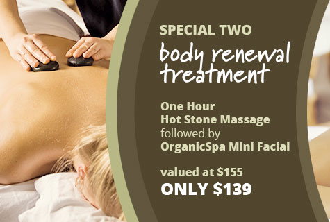 Body Renewal Massage Deal and Organic Spa Facial Special Offer